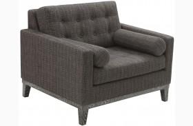 Centennial Charcoal Chenille Fabric Chair