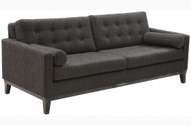 Centennial Charcoal Chenille Fabric Sofa