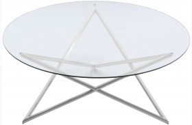 Crest Brushed Steel Coffee Table