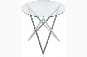 Crest Clear Glass Top End Table