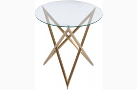 Crest Gold End Table