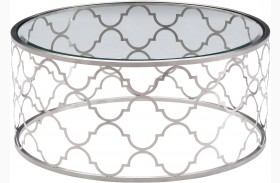 Florence Brushed Silver Coffee Table