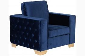 Isola Blue Velvet Chair