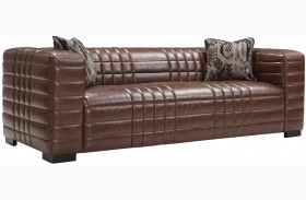 Maxton Brown Leather Sofa