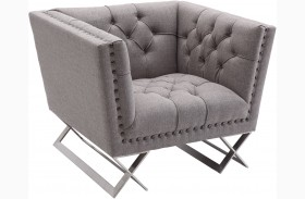 Odyssey Grey Tweed Upholstery Chair