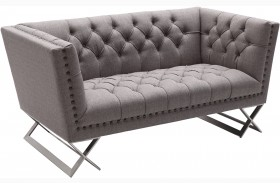 Odyssey Grey Tweed Upholstery Loveseat