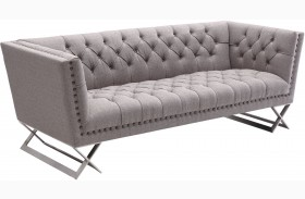 Odyssey Grey Tweed Upholstery Sofa