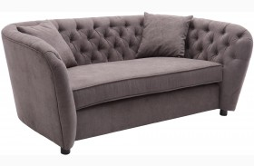 Rhianna Brown Tufted Loveseat