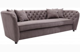 Rhianna Brown Tufted Sofa
