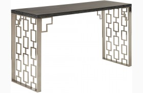 Skyline Black & Silver Console Table