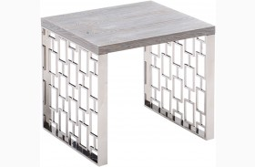 Skyline Grey Wash End Table