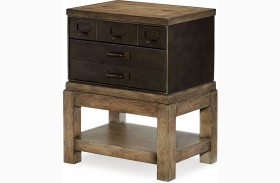 Metalworks Factory Chic 2 Drawers Toolbox End Table