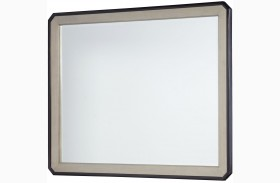 Symphony Platinum & Black Tie Beveled Mirror