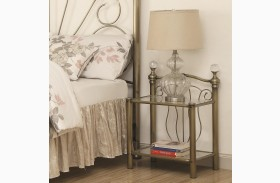 Lemoore Crystal Metal Nightstand