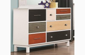 Lemoore Multi-Color 8 Drawer Dresser