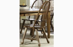 Treasures Oak Sheaf Back Side Chair Set of 2
