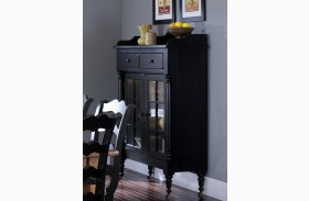 Treasures Black Display Cabinet