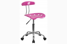 Vibrant Candy Heart and Chrome Computer Task Chair