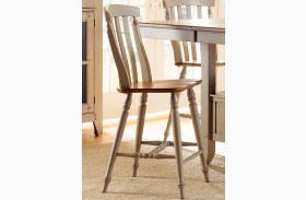 Al Fresco Slat Back Counter Height Chair Set of 2