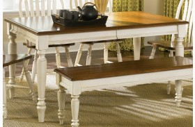 Low Country Sand Rectangular Leg Table - Liberty Furniture