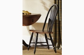 Low Country Black Windsor Back Side Chair Set of 2