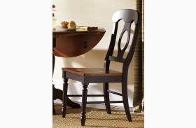 Low Country Black Napoleon Back Side Chair Set of 2