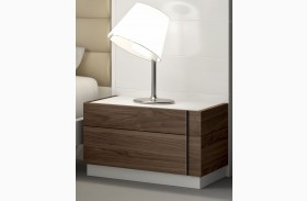Lisbon Natural White Lacquer RAF Nightstand