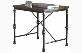 Lillian Gunmetal End Table