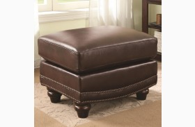 Lockhart Leather Ottoman