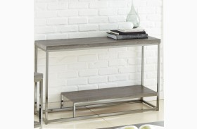 Lucia Black Nickel Sofa Table