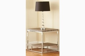 Lucia Gray and Brown End Table