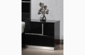 Lucca Black Lacquer RAF Nightstand