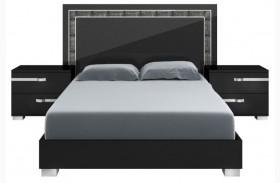 Vivente Lustro Black High Gloss Queen Platform Bed