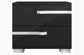 Vivente Lustro Black High Gloss Nightstand