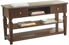 Livonia Brown Cherry Sofa Table