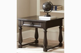 Leona Charcoal End Table