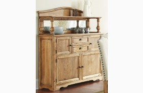 Plymouth Oiled Oak Buffet with Hutch