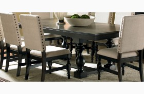 Leona Deep Charcoal Extendable Rectangular Dining Table