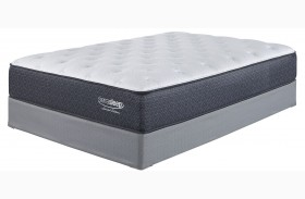 White Cal. King Plush Mattress With Foundation