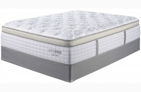 Mt Dana Et Blue & White Queen Mattress With Foundation
