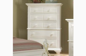 Cottage Traditions White Five Drawer Chest