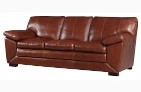 Maeser Pecan Leather Sofa