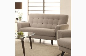 Maguire Light Gray Loveseat