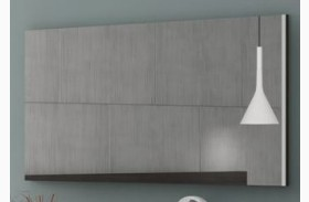 Maia Light Grey Lacquer Mirror