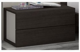 Maia Light Grey Lacquer RAF Nightstand