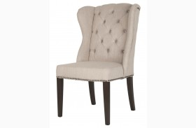 Maison Espresso Birch Fabric Dining Chair