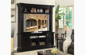 Manchester Rustic Black Entertainment Center
