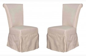Marla Espresso Oatmeal Dining Chair Set of 2
