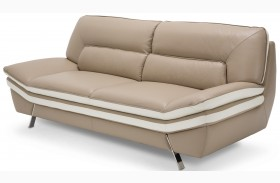 Mia Bella Carlin Brown Mocha Sofa