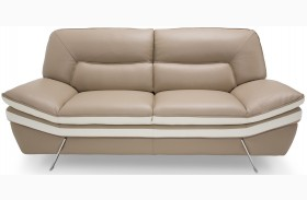 Mia Bella Carlin Brown Mocha Loveseat